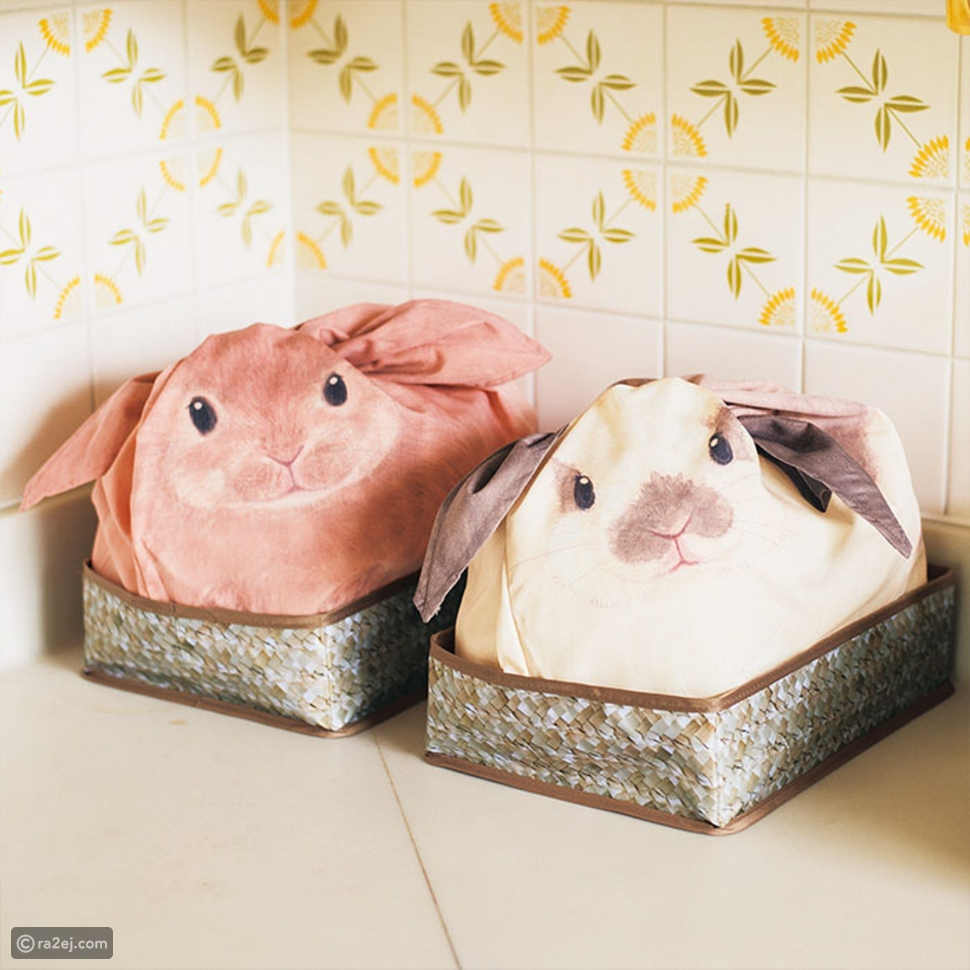 بالصور.. أرانب يابانية مدهشة تساعدك في تنظيم منزلك
