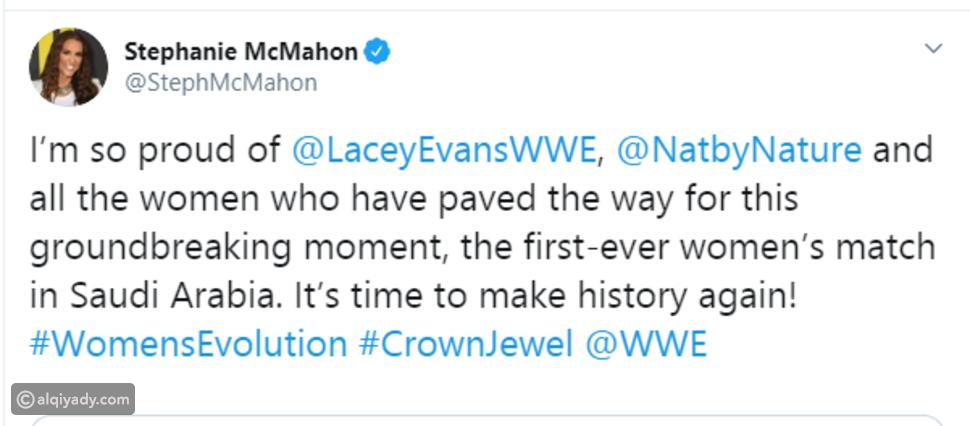 نتاليا ولايسي إيفانز.. أول مصارعة نسائية لـ WWE في التاريخ في السعودية