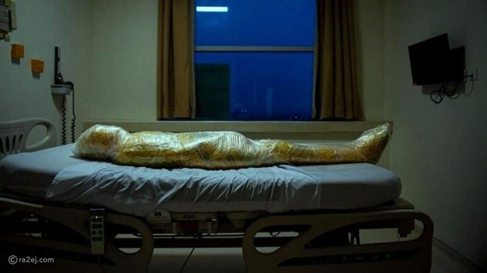 صورة مصاب كورونا تثير الحيرة:  يبدو كأنها مومياء فرعونية