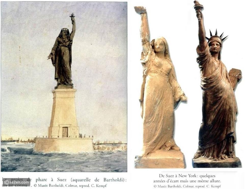 شاهد: قصة تمثال الحرية وهل حقًا كان لفلاح مصرية؟