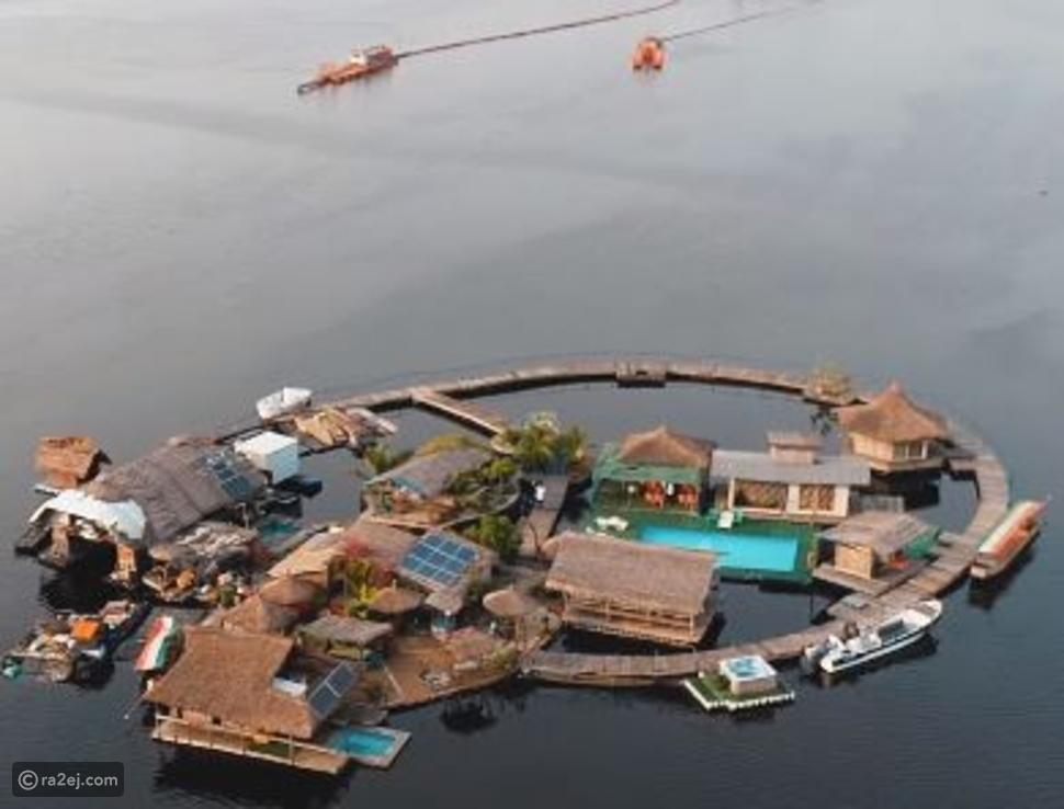 فندق عائم في البحر مبني بالكامل من القمامة😳