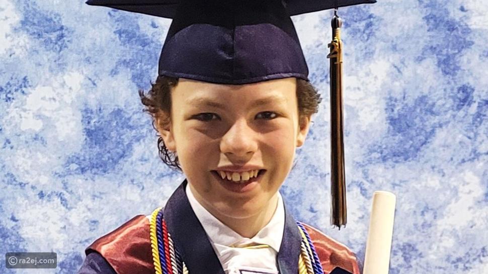 طفل نابغة عمره 12عامًا تخرج من المدرسة الثانوية والكلية في نفس الأسبوع