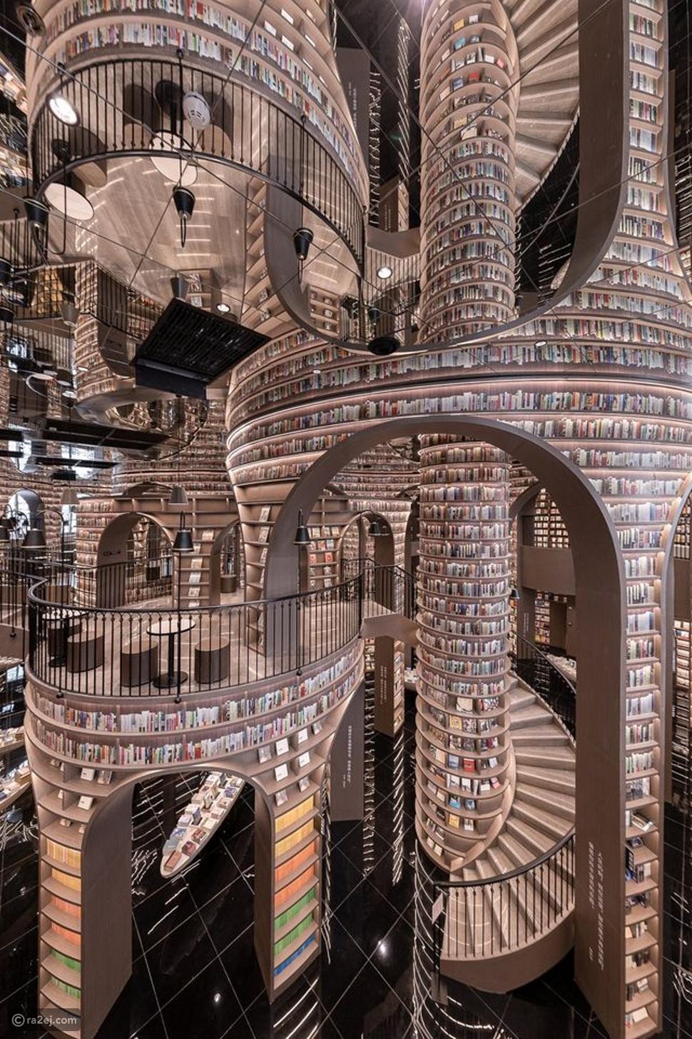 مكتبة بتصميم ساحر: جنة الكتب الصينية تجعلك ترغب في القراءة الآن