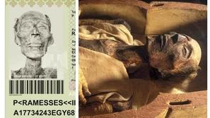 صور: رمسيس الثاني.. أول مومياء تحمل جواز سفر في العالم