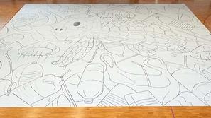 صور: أكبر رسم في العالم يدخل جينيس .. لفت الأنظار للتلوث البيئي