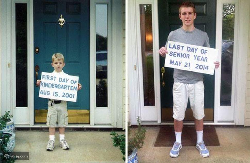 شباب ينشرون صورهم في أول وآخر يوم بالمدرسة.. مدهشة وعاطفية للغاية