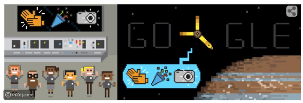 جوجل يحتفل بوصول مسبار (جونو) لكوكب المشتري بواجهة مرحة