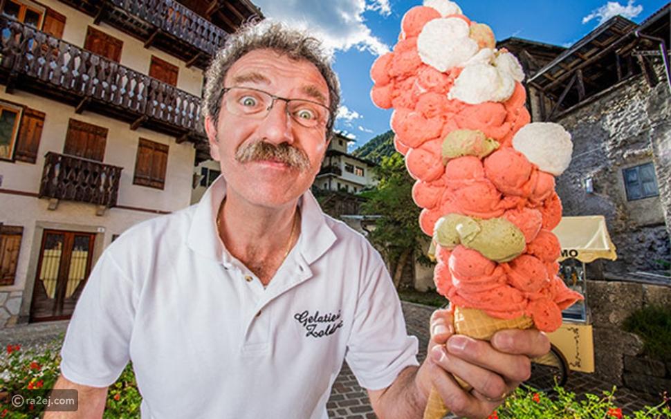 فيديو إيطالي يدخل موسوعة جينيس بسبب عشقه للمثلجات!
