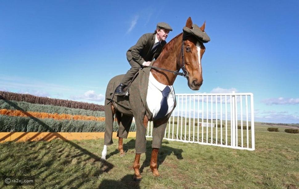 """""""الحصان ذو البدلة الأنيقة"""".. صور وفيديو لبريطاني جعل جواده أكثر الخيول أناقة"""