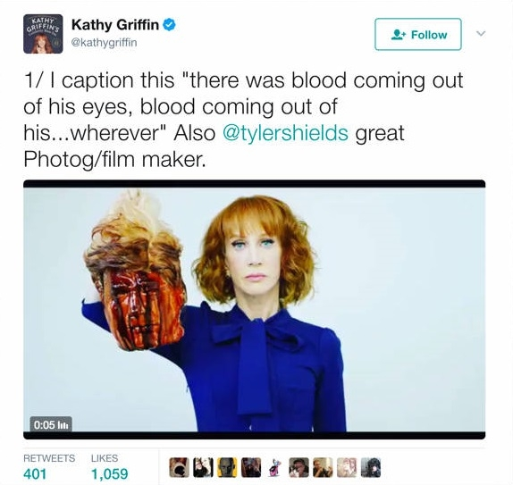 تعليق كاثي غريفين