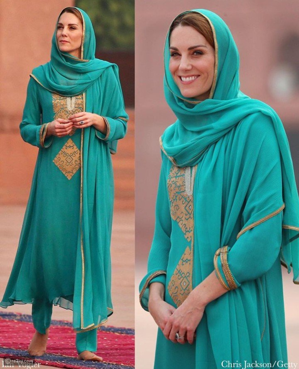 فيديو وصور: كيت ميدلتون أجمل ما يكون بالحجاب والزي الإسلامي