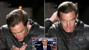 فيديو: مشهد مُقزز لمراسل يقوم بتصرف غير لائق على الهواء دون أن يدري