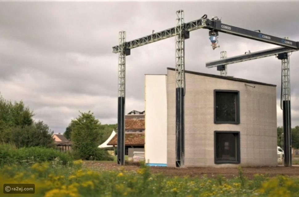 شاهد: بناء أول منزل بطابعة ثلاثية الأبعاد وبدون عمال أغلب الوقت