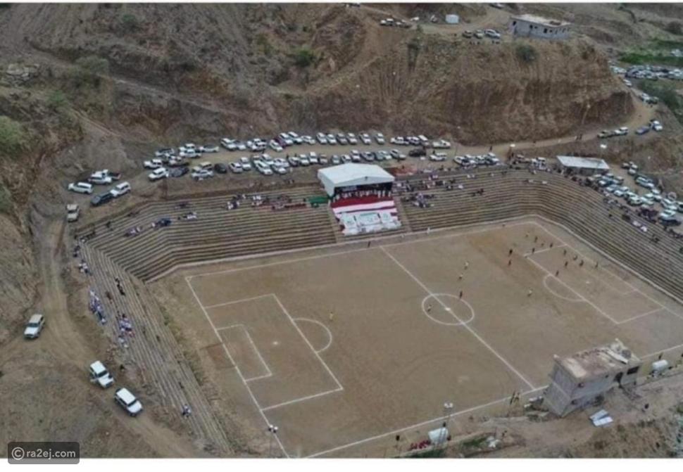 شاهد ملعب كرة قدم في السعودية ليس له مثيل في العالم: منحوت في الصخر