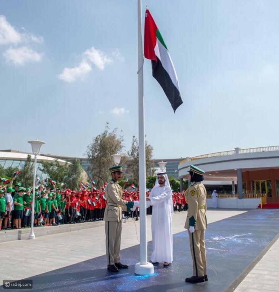 لقطات من احتفال الإمارات بيوم العلم شاهد كيف رفعوا أكبر علم للدولة