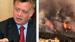 ملك الأردن يشعل مواقع التواصل بفيديو مشاركته في إخماد حريق في عمان