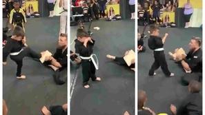 فيديو: تشجيع لافت لطفل يبكي وهو يخفق في التدريب يبدل الموقف كلياً !