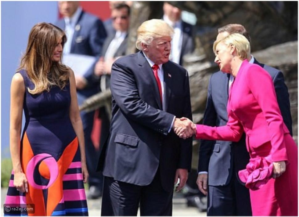 """""""ترامب"""" يتعرض لموقف محرج بسبب سيدة بولندا الأولى.. شاهد ما حدث!"""
