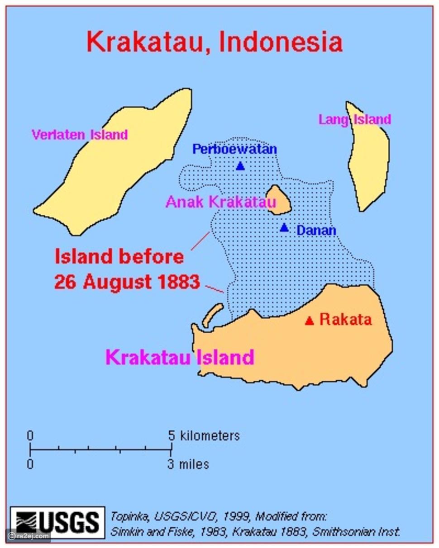 معلومات عن بركان كراكاتوا المدمر: وقصة الجزيرة التي تكونت من العدم