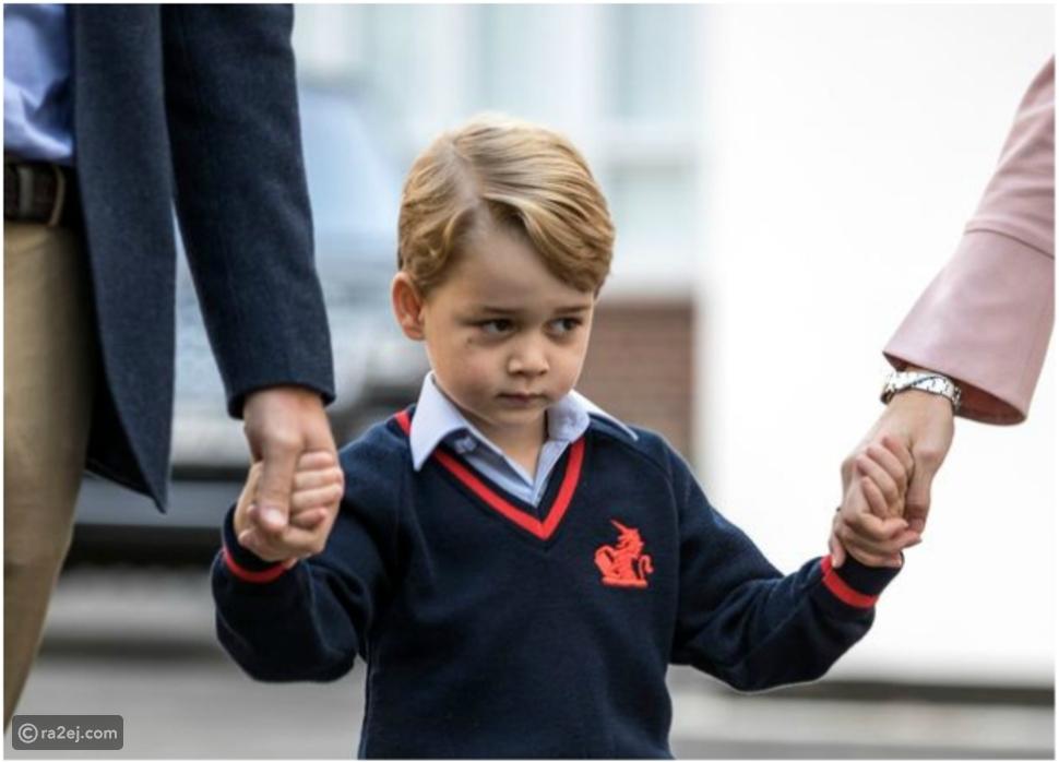 """الأمير """"جورج"""" يخطف الأنظار في أول يوم دراسي له.. فيديو وصور"""