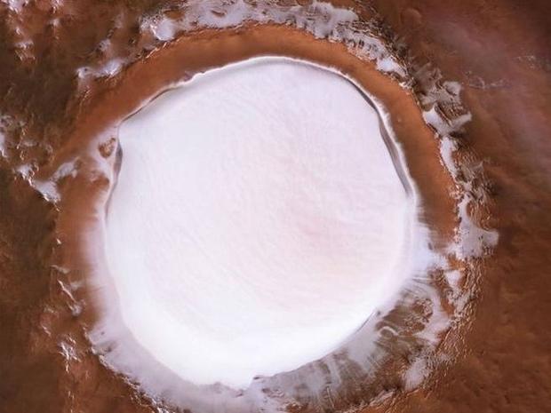 بقعة مياة متجمدة في المريخ