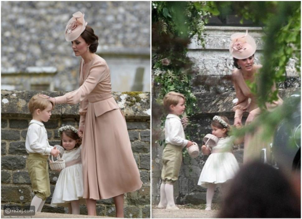 شاهد.. لهذا السبب وبخت كيت ميدلتون الأمير جورج بحفل زفاف شقيقتها بيبا