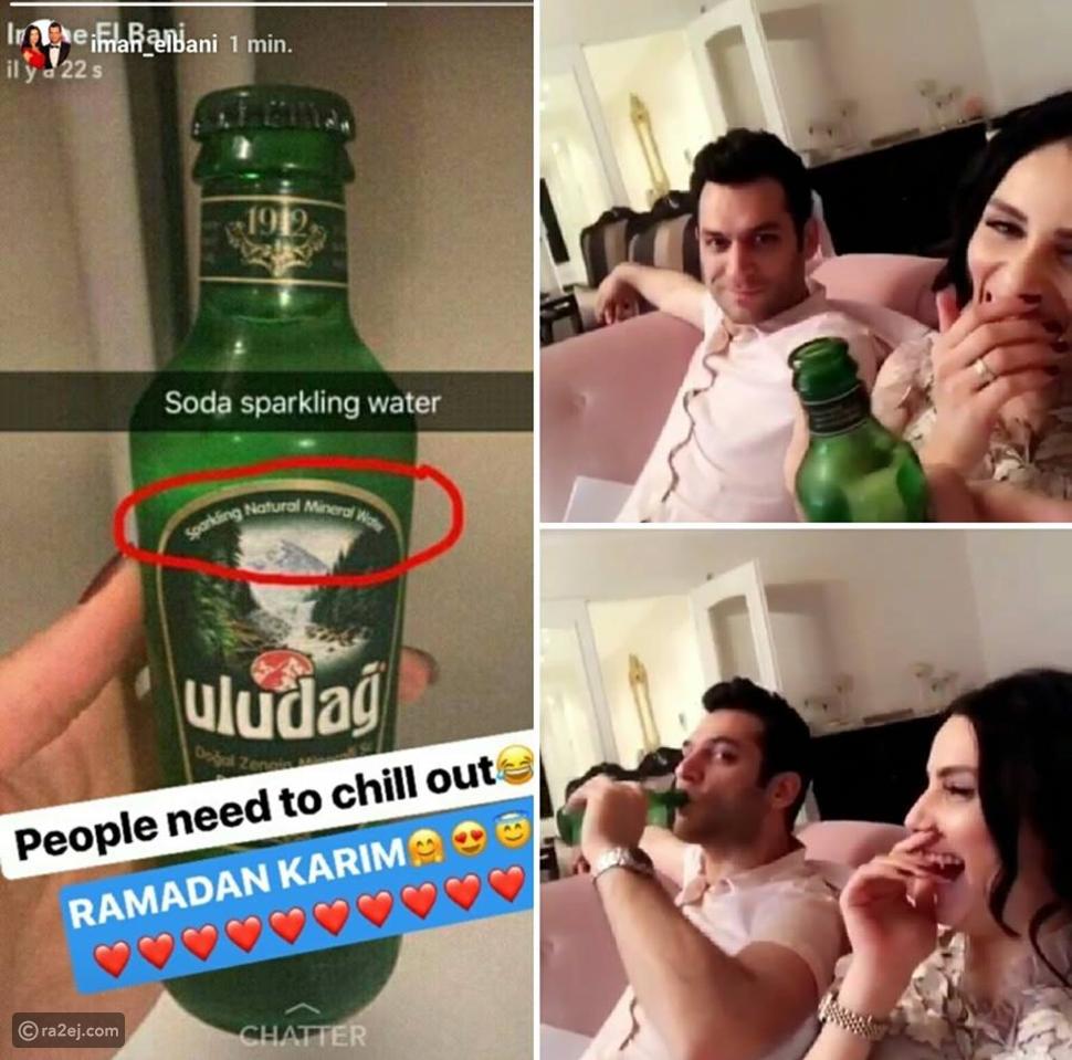 فيديو ضجة بسبب تناول مراد يلدريم وزوجته إيمان إلباني لهذا المشروب في رمضان!
