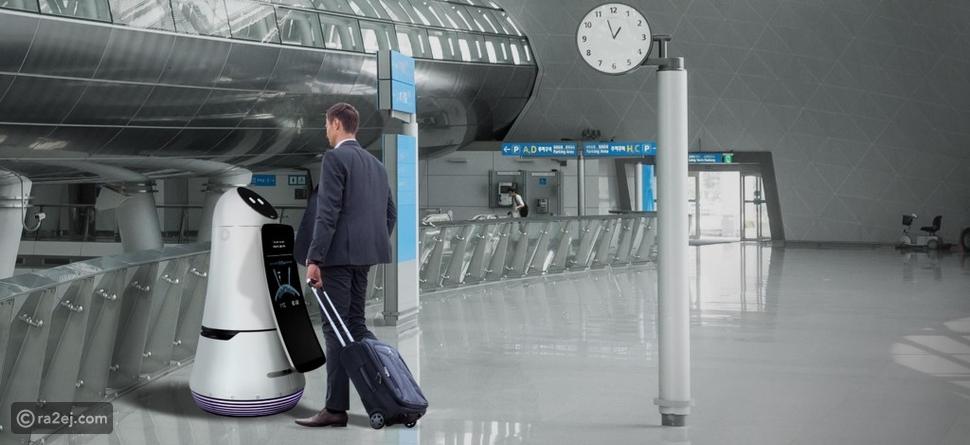 فيديو روبوت مطار إنشون الكوري يثير اهتمام السائحين