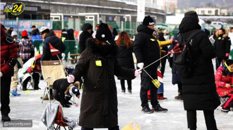 فيديو: الصيد في الثلج.. السباحة تحت الصفر للوصول إلى الأسماك في كوريا