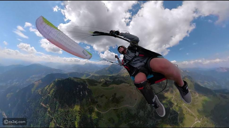 فيديو يخطف الأنفاس: شاب يؤدي حركات خطيرة خلال القفز بالمظلة